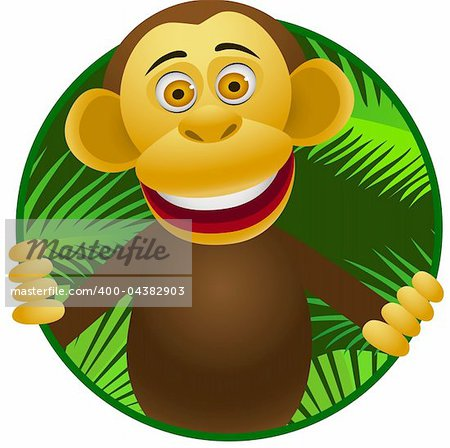 Chimpanzee cartoon Stock Photo - Budget Royalty-Free, Image code: 400-04382903