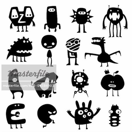 Cartoon Funny Vector Monsters...