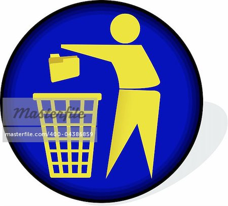 Illustration art of a recycling logo with isolated background Stock Photo - Budget Royalty-Free, Image code: 400-04386859