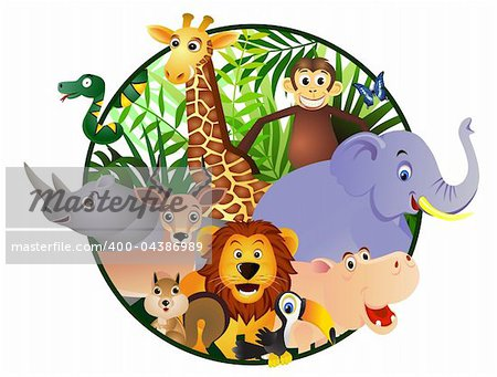 Wild animal cartoon Stock Photo - Budget Royalty-Free, Image code: 400-04386989