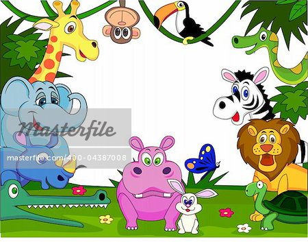 Wild animal cartoon Stock Photo - Budget Royalty-Free, Image code: 400-04387008