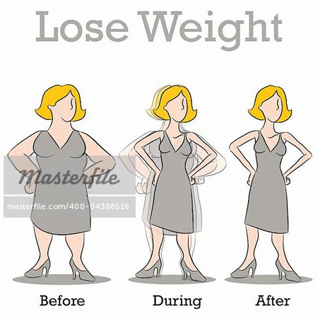 An image of a woman losing weight. Stock Photo - Budget Royalty-Free, Image code: 400-04388516