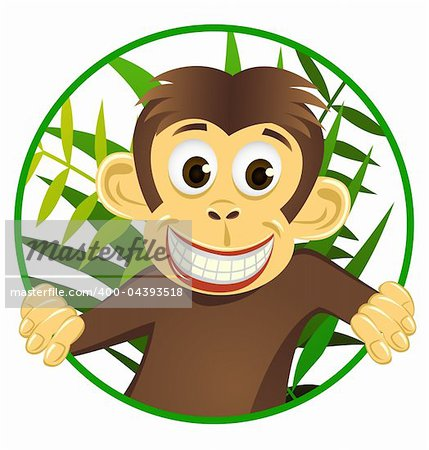Chimpanzee cartoon vector Stock Photo - Budget Royalty-Free, Image code: 400-04393518