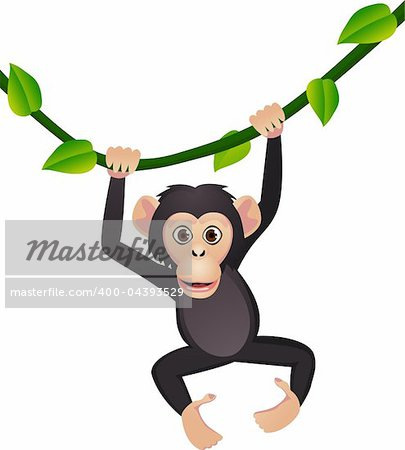 Chimpanzee cartoon Stock Photo - Budget Royalty-Free, Image code: 400-04393529