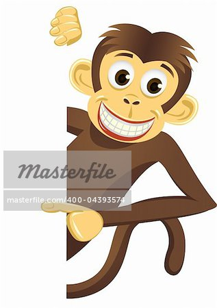 Chimpanzee cartoon vector Stock Photo - Budget Royalty-Free, Image code: 400-04393574