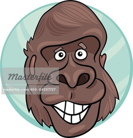 cartoon illustration of funny gorilla ape Stock Photo - Budget Royalty-Free, Image code: 400-04397727