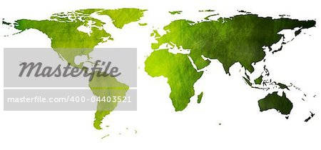 World vector map in grunge style. Eps 10 Stock Photo - Royalty-Free, Artist: saicle, Code: 400-04403521