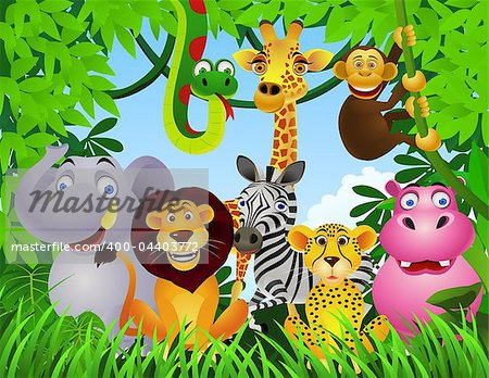 Bird cartoon animals jungle cartoons cheetah cute animal forest