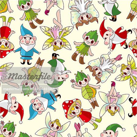 seamless elf pattern Stock Photo - Budget Royalty-Free, Image code: 400-04403871
