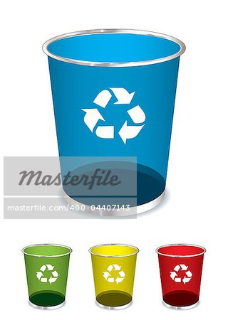 Bright glass recycle trash can icons or symbols Stock Photo - Budget Royalty-Free, Image code: 400-04407143