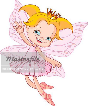 Cute fairy ballerina flying Stock Photo - Budget Royalty-Free, Image code: 400-04419496