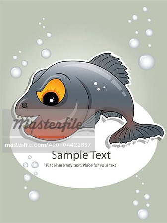Vector picture of gray piranha Stock Photo - Budget Royalty-Free, Image code: 400-04422897