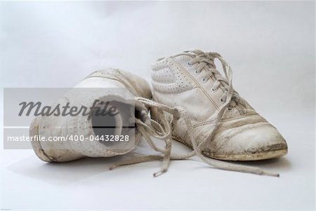 A pair of old nondescript sneakers Stock Photo - Budget Royalty-Free, Image code: 400-04432828