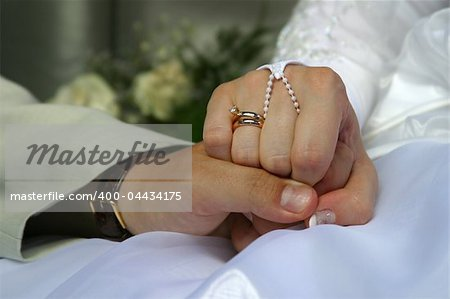 The groom keep the bride for hands Stock Photo - Budget Royalty-Free, Image code: 400-04434175