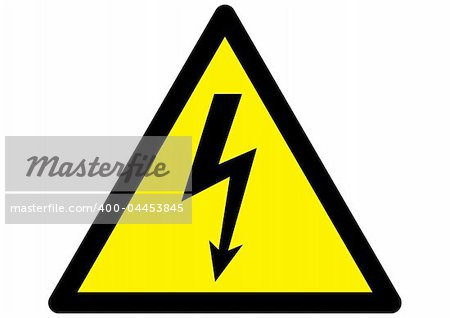electricity Hazard symbol on warning sign