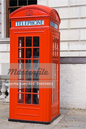 Classic british red phone booth in close up Stock Photo - Budget Royalty-Free, Image code: 400-04455601