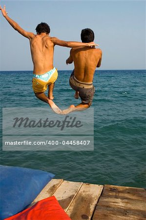 Friends having fun at the beach Stock Photo - Budget Royalty-Free, Image code: 400-04458407