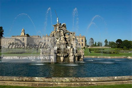 Witley Court Country House Worcestershire Midlands England perseus and andromeda fountain Stock Photo - Budget Royalty-Free, Image code: 400-04476271