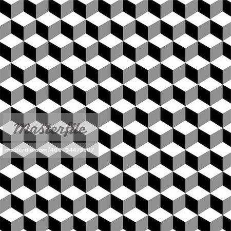Cube pattern. Stock Photo - Budget Royalty-Free, Image code: 400-04479507