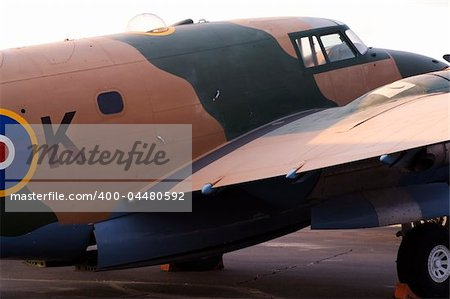 A WW II vintage British military airplane Stock Photo - Budget Royalty-Free, Image code: 400-04480592