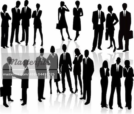 Lots of people. Business Team (vectors) Stock Photo - Budget Royalty-Free, Image code: 400-04493325