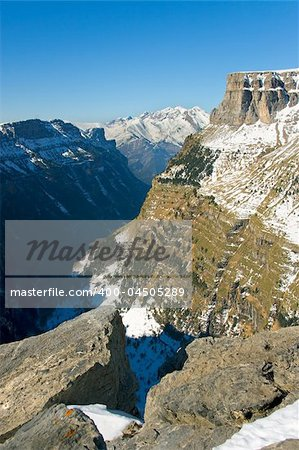 Sight of the cannon and Ordesa's valley, Huesca (Spain) Stock Photo - Budget Royalty-Free, Image code: 400-04505289