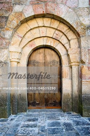 Door of Leire's monastery in Navarra (Spain) Stock Photo - Budget Royalty-Free, Image code: 400-04505290