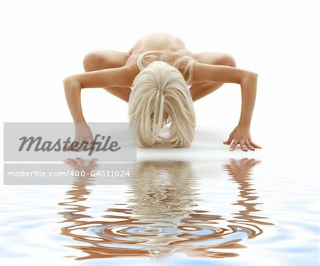 classical artistic nudity style picture of woman on white sand Stock Photo - Budget Royalty-Free, Image code: 400-04511024
