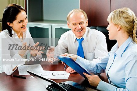 Image of business discussion of a new project at meeting Stock Photo - Budget Royalty-Free, Image code: 400-04511939