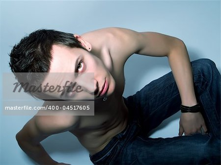 Portrait of an attractive young male Stock Photo - Budget Royalty-Free, Image code: 400-04517605