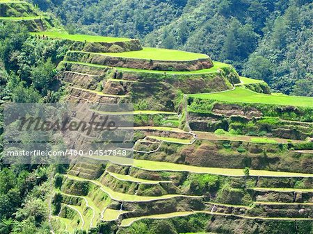 Banaue rice terraces in Ifugao province, Philippines. Stock Photo - Budget Royalty-Free, Image code: 400-04517848