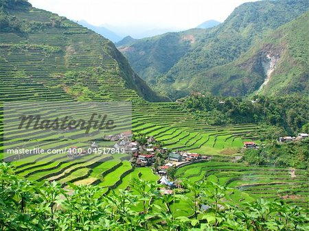 Batad rice terraces village in Ifugao province, Philippines. Stock Photo - Budget Royalty-Free, Image code: 400-04517849