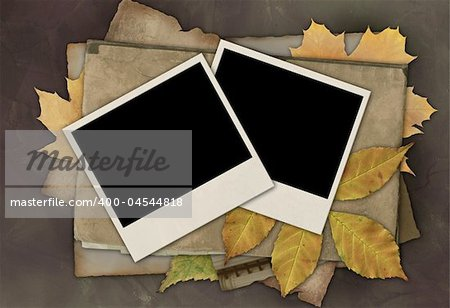Grunge retro background of brown color