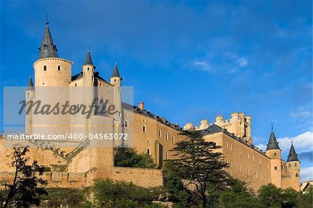 Given the Alcazar sunny day in Segovia (Spain) Stock Photo - Budget Royalty-Free, Image code: 400-04563072