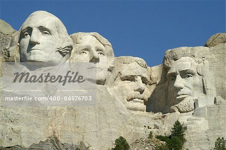 Mount Rushmore National Monument, South Dakota; 4 American Presidents, the full view