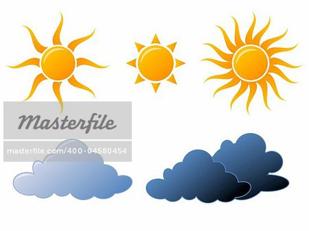 Weather icons fully editable vector illustration