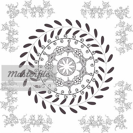 hand drawn vector pattern design good for textile, jewelery, henna
