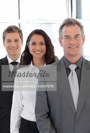 Senior business man leading a Team Stock Photo - Budget Royalty-Free, Image code: 400-04597370