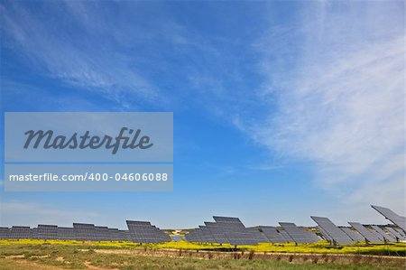Solar panels in the power plant for renewable energy Stock Photo - Budget Royalty-Free, Image code: 400-04606088