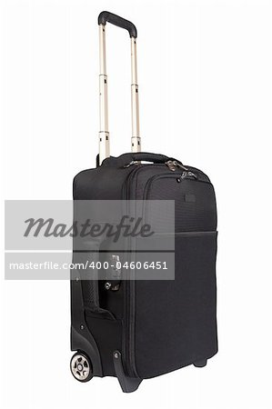 A suitcase trolley isolated on white background. Path included Stock Photo - Budget Royalty-Free, Image code: 400-04606451