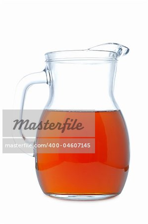 Ice tea pitcher with soft shadow on white background Stock Photo - Budget Royalty-Free, Image code: 400-04607145