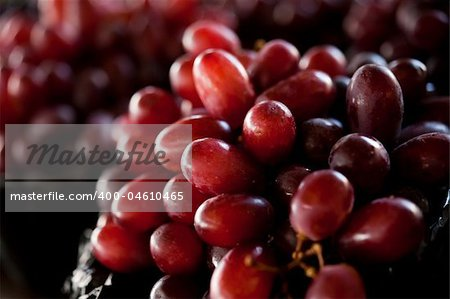 Close-up image of group of red grapes Stock Photo - Budget Royalty-Free, Image code: 400-04610465