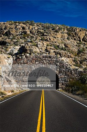 Image of a highway going into a tunnel Stock Photo - Budget Royalty-Free, Image code: 400-04610467