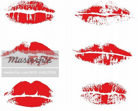 Abstract vector inprint of lips
