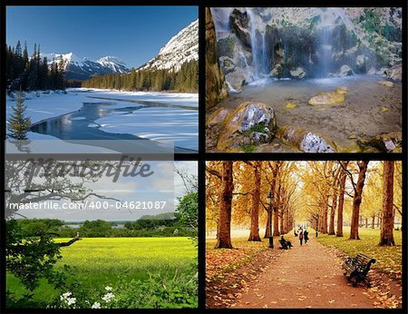 four seasons Stock Photo - Budget Royalty-Free, Image code: 400-04621087