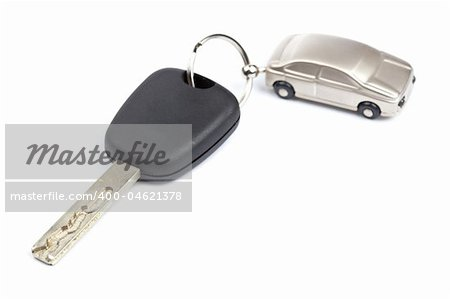 Car key isolated on white background with shallow depth of field Stock Photo - Budget Royalty-Free, Image code: 400-04621378