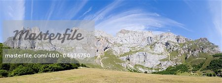 Panoramic of Fuente De, Cantabria (Spain) Stock Photo - Budget Royalty-Free, Image code: 400-04636750