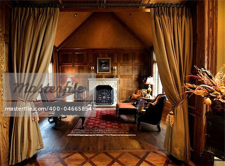 An image of a luxurious high-end home office space Stock Photo - Budget Royalty-Free, Image code: 400-04665854