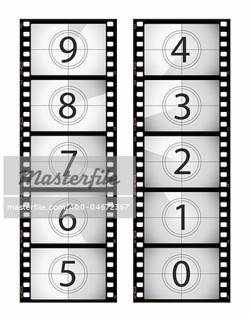 Vertical film countdown, part of my film collection. Stock Photo - Budget Royalty-Free, Image code: 400-04672367