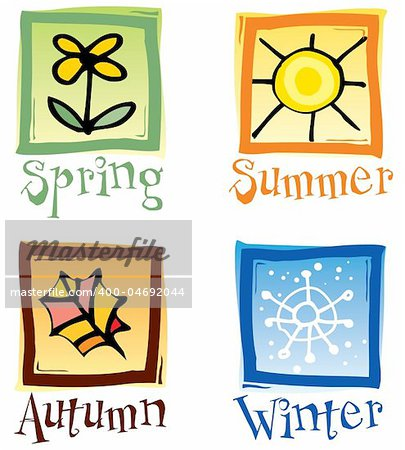 Four Seasons Icons Stock Photo - Budget Royalty-Free, Image code: 400-04692044